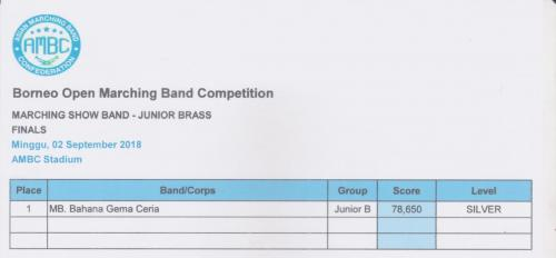 Marching Show (Junior Brass group)